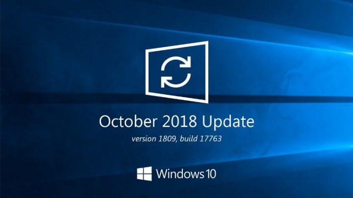 bug update windows 10 1809