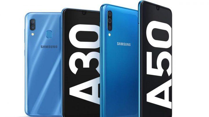 Samsung Galaxy A30 e Galaxy A50 720x405 - Samsung acabou oficialmente com a linha Galaxy J