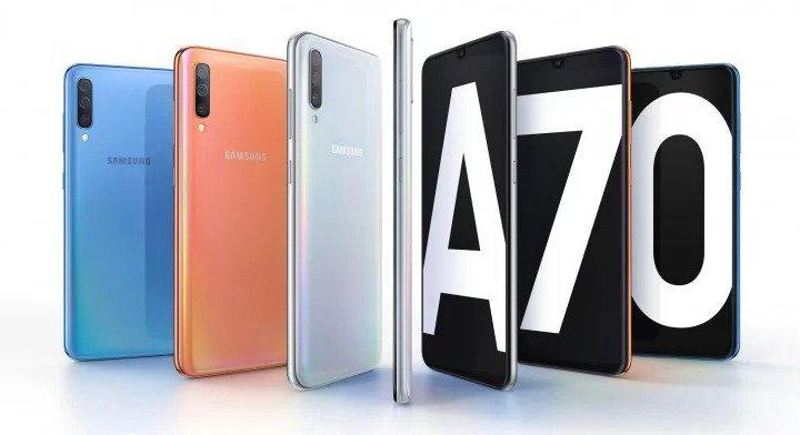 Samsung Galaxy A70 720x392 - Samsung Galaxy A70 é agora oficial com 3 câmaras traseiras e ecrã Infinity-U