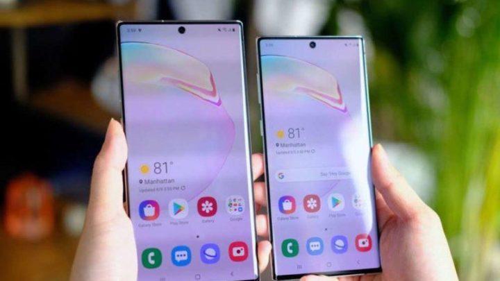 Samsung Galaxy Note 10 Android actualizações